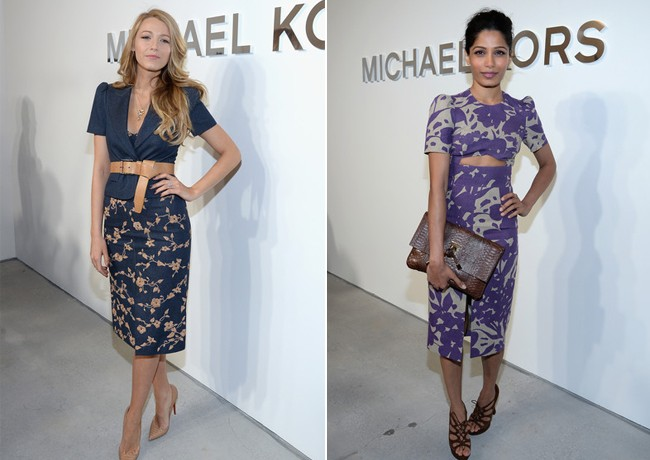Blake Lively and Freida Pinto kill it on Michael Kors AW14 FROW