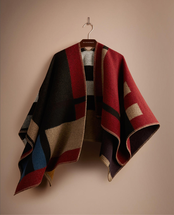 Lunchtime Buy: Burberry Prorsum colour block check blanket poncho
