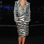 Cheryl Cole wears Roberto Cavalli trench coat for Milan Fashion Week show