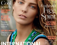 Daria Werbowy covers British Vogue March, plus Kate Moss's first shoot