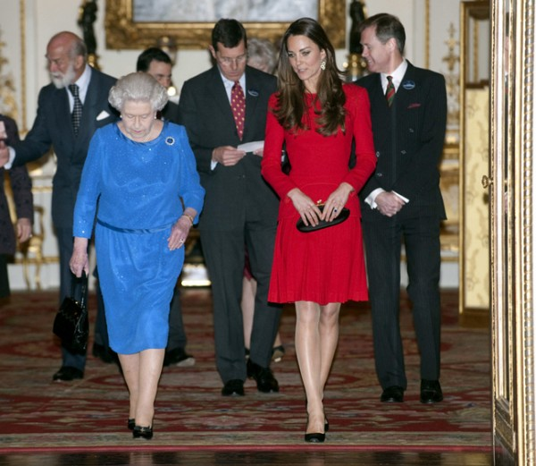 Kate Middleton recycles red Alexander McQueen for Dramatic Arts reception