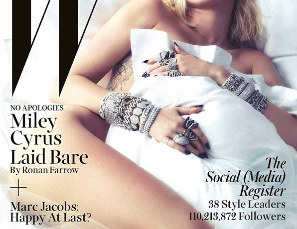 Unrecognisable Miley Cyrus poses nude for W