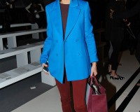 Olivia Palermo gets it right in Reiss peacoat for Anya Hindmarch show