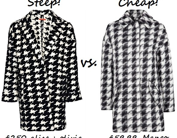 Steep vs. Cheap: Houndstooth-print coat
