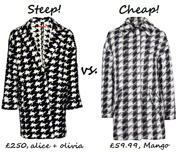 steep v cheap houndstooth coat