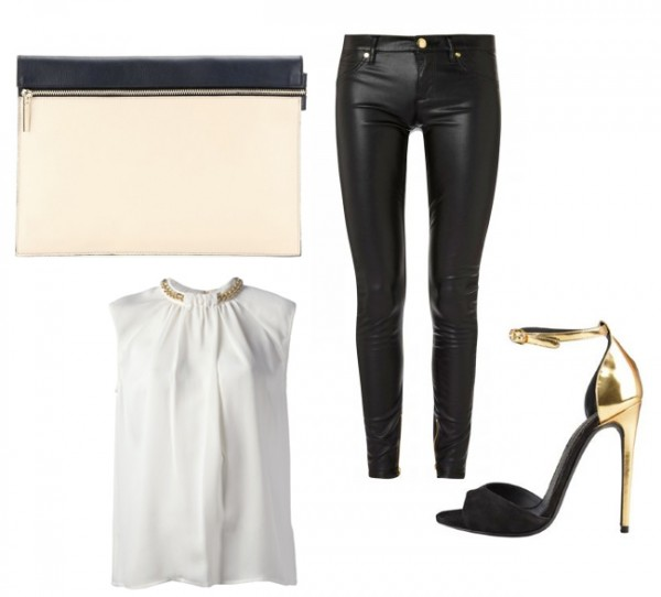 2 ways to wear Victoria Beckham's large zip leather clutch