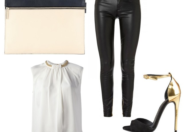 2 ways to wear Victoria Beckham's large zip leather clutch