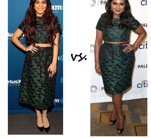 Vanessa Hudgens vs. Mindy Kaling…Who wore Topshop better?