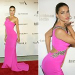Adriana Lima sizzles in Gabriela Cadena dress