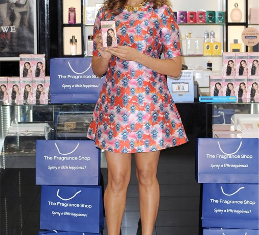 Alesha Dixon embraces spring in bold House of Holland skater dress