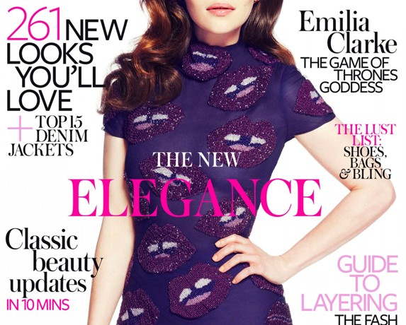 Emilia Clarke is glam in Giles for InStyle UK April