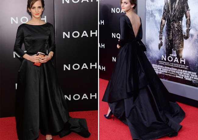 Emma Watson pulls out all the stops in Oscar de la Renta