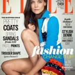 Katie Holmes rocks Prada coat for Elle UK April