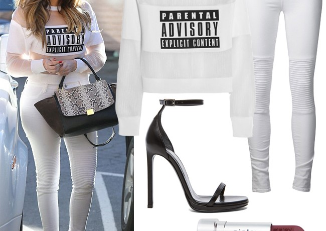 "Get Khloe Kardashian's ""parental advisory"" look"