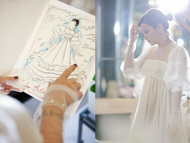 lily allen chanel wedding dress