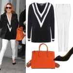 Get Lindsay Lohan's The Tonight Show look