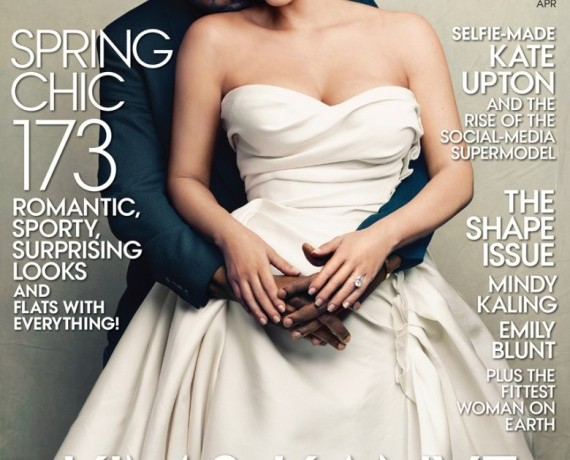 Kim Kardashian and Kanye on the cover of Vogue. Is the world coming to an end?