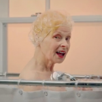 Dame Vivienne Westwood takes a shower for PETA and World Water Day