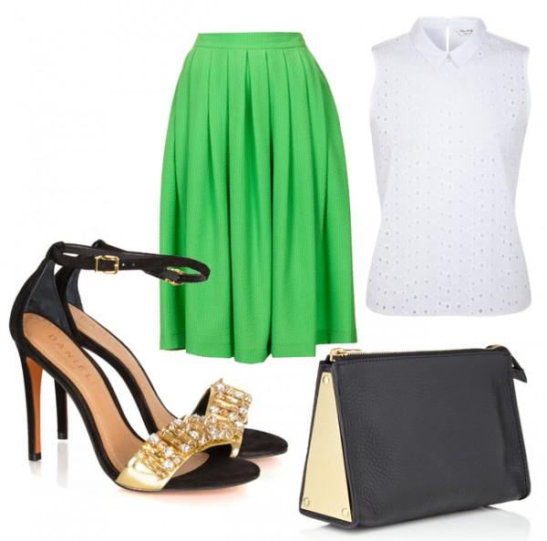 2 ways to wear the Miss Selfridge Broderie collar top