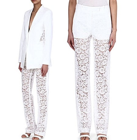 Givenchy lace trousers…Yay or Nay?