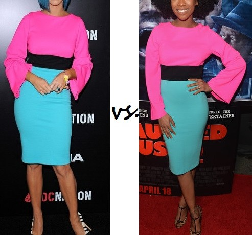 Katy Perry vs. Brandy…Who wore Fausto Puglisi better?
