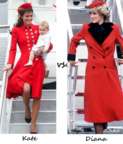 Kate vs. Diana…Who wore red better during the New Zealand tour?