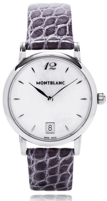 Mont Blanc Star Classique Ladies Mother of Pearl Ladies Quartz Watch 108766- full view (1)
