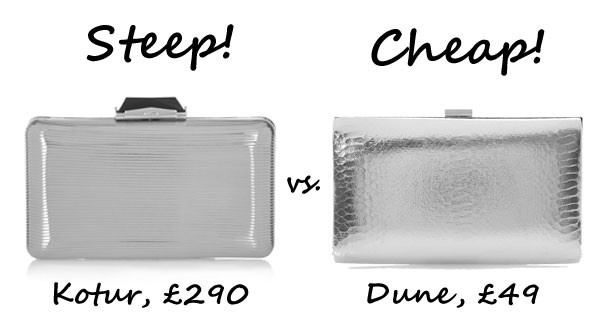 Steep vs. Cheap: Metallic box clutch