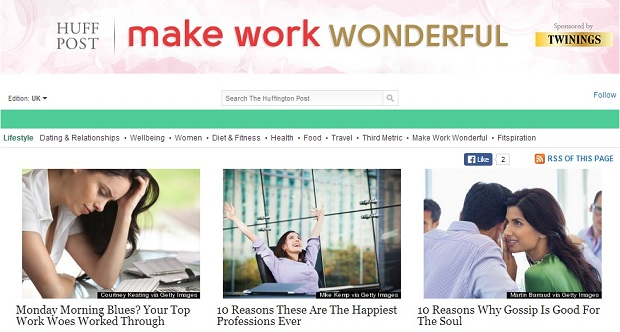 Twinings Infusions and Huffington Post create work and lifestyle portal
