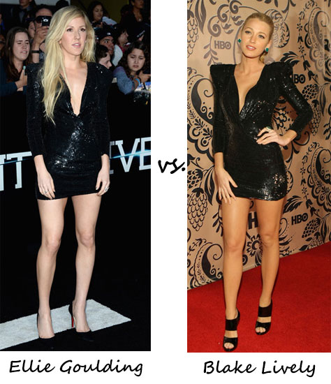 Ellie Goulding vs. Blake Lively…Who wore Balmain better?