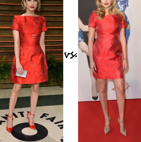 Emma Roberts vs. Kate Upton…Who wore Fendi better?