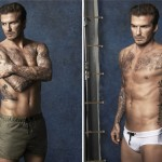 David Beckham models his first H&M swimwear range