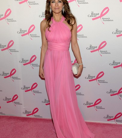 Elizabeth Hurley in Versace for Breast Cancer Foundation Hot Pink party