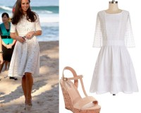 Get Kate Middleton's white eyelet dress look