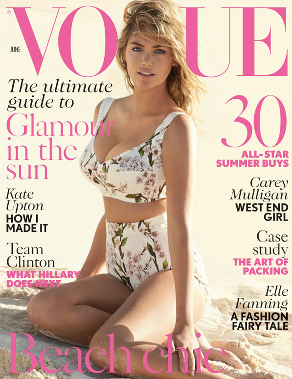 Kate Upton rocks a fifties inspired bikini on British Vogue's June issue