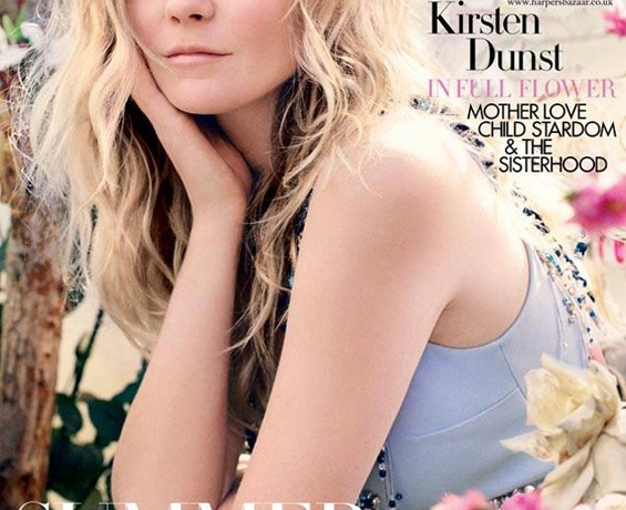 Kirsten Dunst blossoms on Harper's Bazaar UK May cover