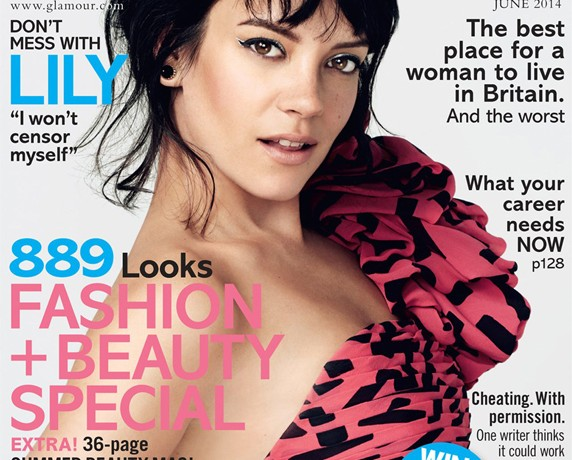 "Lily Allen covers Glamour UK's June issue, talks about missing ""free clothes and handbags"""