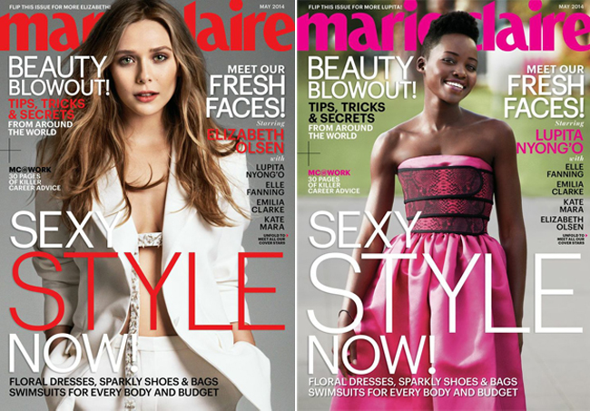 The Marie Claire US May issue has five – yes five – individual cover stars!