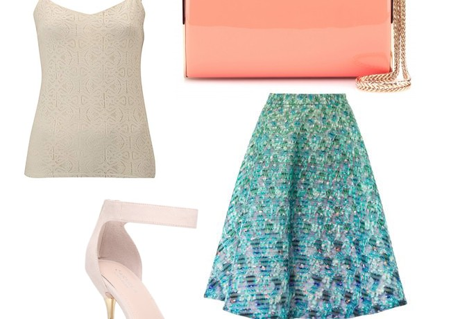 2 ways to wear Mary Katrantzou's Babelona jewel print midi skirt