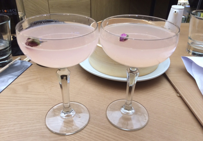 Ping Pong's signature lychee and roses cocktail (x2)
