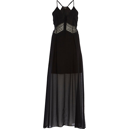 river island black maxi dress