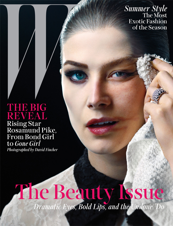 Rosamund Pike takes her make-up off for W magazine