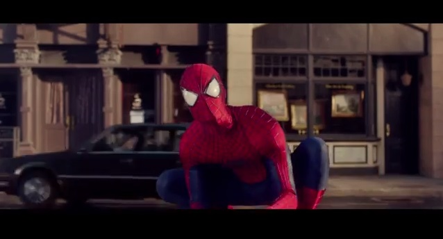Baby Spider-Man and adult Spider-Man go head-to-head for Evian