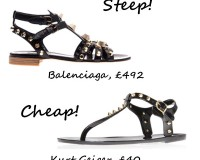 Steep vs. Cheap: Studded flat sandals