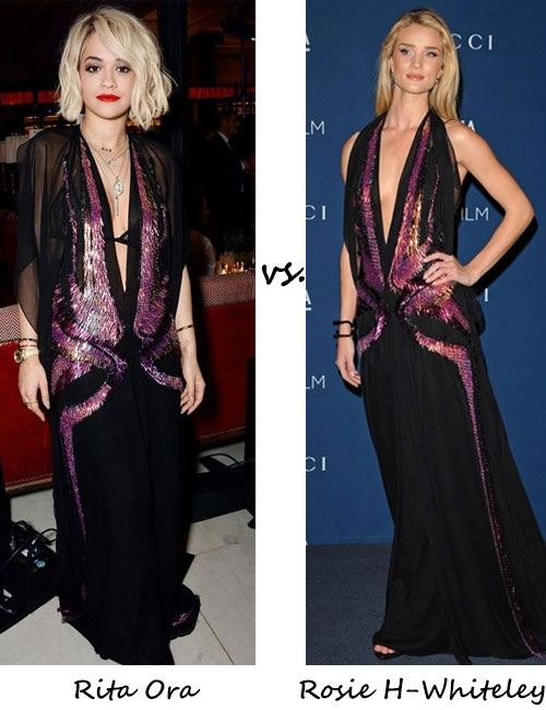 Rita Ora vs. Rosie Huntington-Whiteley…Who wore Gucci better?