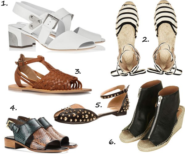 6 Summer Sandals that avoid too much foot exposé