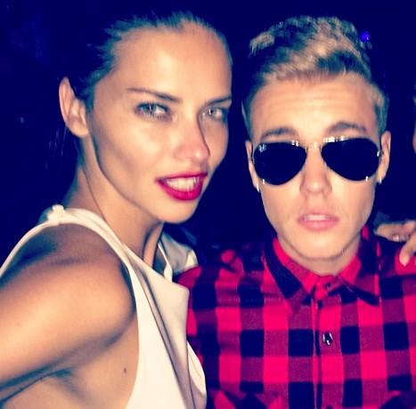 Adriana Lima and Justin Bieber?