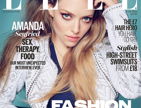 Amanda Seyfried rocks Melissa Odabash bikini for Elle UK June cover