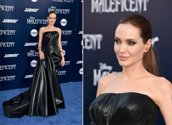 Angelina Jolie exudes sinful sexiness in Versace at Maleficent LA premiere