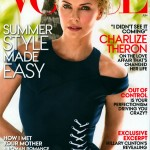 Charlize Theron poses in Dior for Vogue US June cover